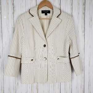 Signature By Larry Levine Striped Blazer Jacket